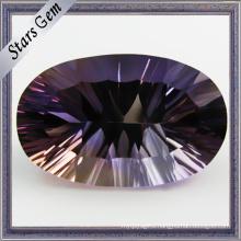 Oval Shape Special Color Millennium Cut Gemstone