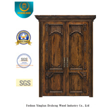 Porta de aço de segurança dupla estilo vintage (m2-1020)