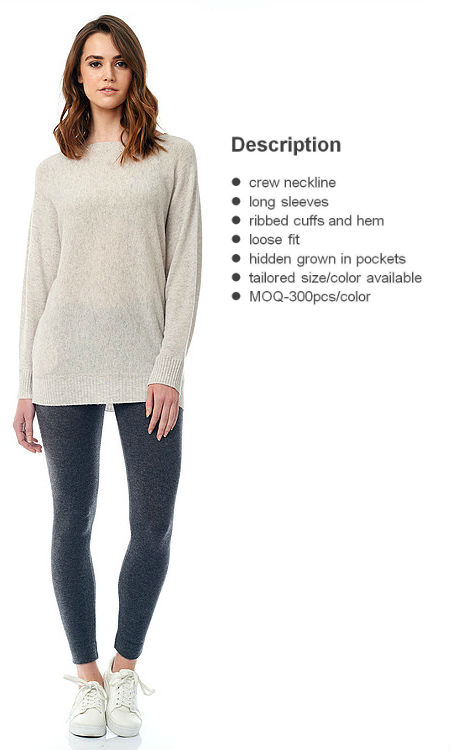 welt knit pullover front