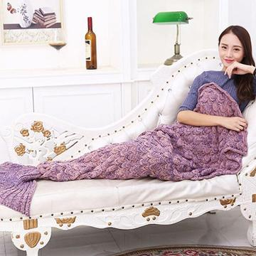 Mermaid Tail Blanket Handmade