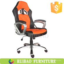 2016 mejor popular silla de oficina de cuero naranja fabricante