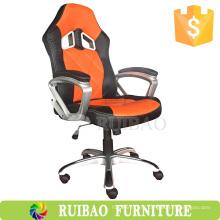 2016 Лучший популярный оранжевый кожаный офисный стул Пзготовителей