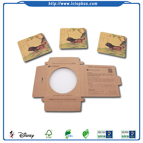 Square paperboard Coaster Set of 6