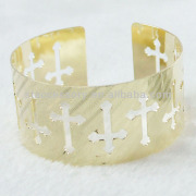Cheap Bangle Cross Pattern Iron Metal Bracelet Bangle
