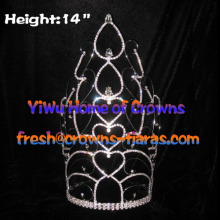 14inch Heart Shaped Wholesale Pageant Crowns