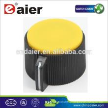 KN-113 boutons en plastique dentelés de bâti de pince avec le bouton de volume de pointeur blanc