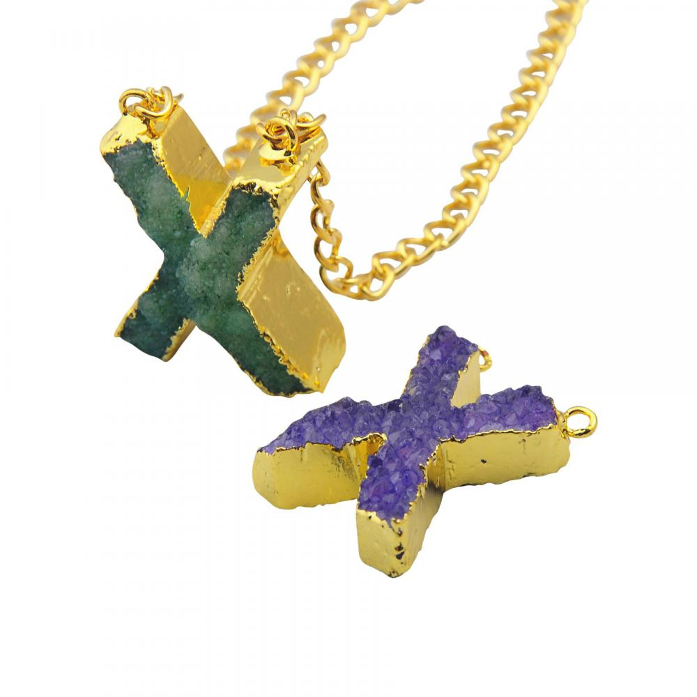 Colorful Crystal Alphabet Letter Pendant Necklace