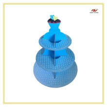 Cardboard 3 Tier Cake cup Stands For Sales