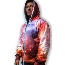 Pink 3D Galaxy Lights Up Sweatshirt