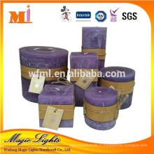 Bougie de cire parfumée haut de gamme adaptée aux besoins du client d'utilisation d'hôtel