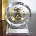Horloge en cristal promotionnel cristal cadeau table horloge