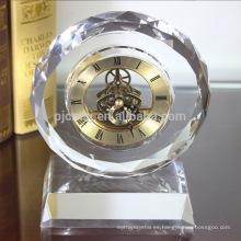 Reloj de cristal promocional Reloj de mesa de regalo de cristal