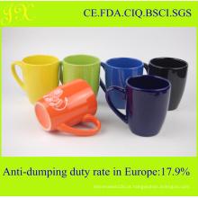 Caneca de cerâmica ecológica em várias cores