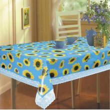 Couvertures de table en vinyle avec bordure en dentelle