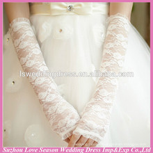 WG0005 bridal wedding wear elbow length lace gloves