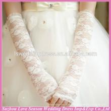 WG0005 casamento nupcial usa luvas de renda de cotovelo