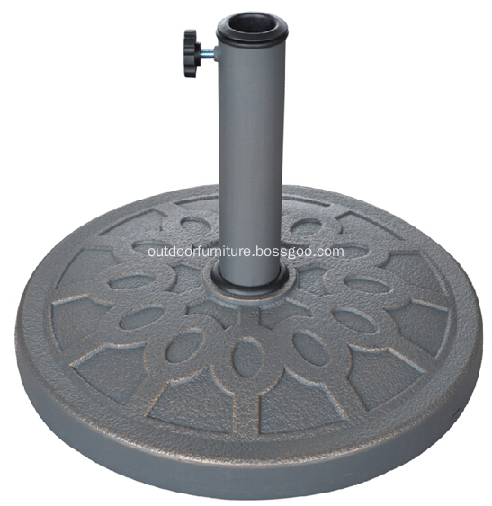 DL-051-13 Beautiful Round Patio 13KGS Polyresin Umbrella Base