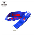 New Style Most Popular Design Custom Woven Elastic Polyester Lanyard with Embroidery Logo