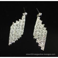 Promotion Bridal Elegant Silver Hanging Crystal Stud Earrings