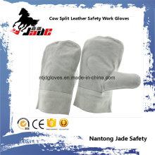 Manoplas de cuero de cuero de vaca Guante de trabajo de soldadura industrial de trabajo