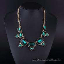 Chapado en cristal esmeralda negro Bohemia collar Hln16825