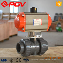 Válvula de bola plástica motorizada pvc plástica del sistema de agua