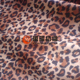 Leopard Animal Print Velvety Faux Suede Microfiber Upholstery Fabric