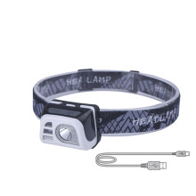 Gesture Sensing Red Safety Warning Headlamp Adjustable Angle