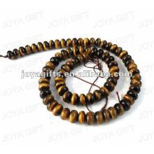 Perlas de piedra tigereye en forma de moneda