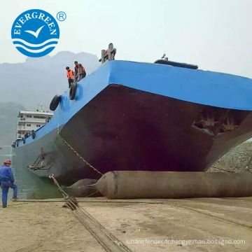 Navire de sauvetage maritime lancement de levage airbag en caoutchouc