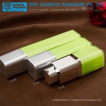 ZB-RK série 15ml 30ml, 50ml de nouvelle conception double couches mur épais couleur personnalisable tout en plastique carré tourner flacon airless