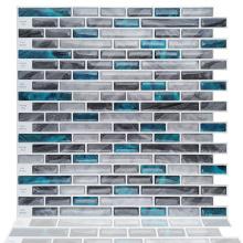Waterproof 3D Mosaic Self Adhesive Vinyl Wall Tiles