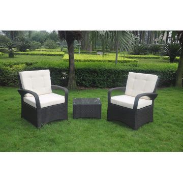 Outdoor Wicker Patio Cube 3 Piece Garden Set