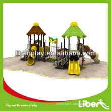 Équipement de terrain de jeu extérieur non-lumineux naturel pour enfants LE.YG.050 aire de jeux pour enfants