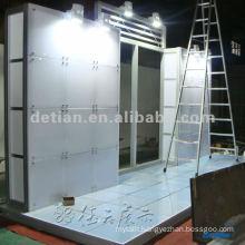 Display floor system, glass & wood floor system/ thin glass & wood floor