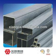 Tubo de sección cuadrada hueco de acero galvanizado ligero utilizado en la construcción