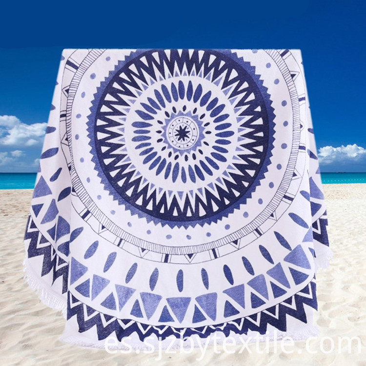 round seaside beach towel