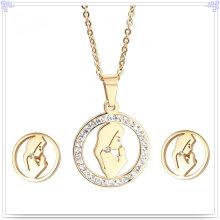 Jóias Crystail acessórios de moda jóias de aço inoxidável conjunto (js0107)