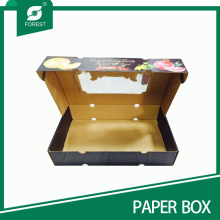 2015 Nuevo cartón corrugado manzanas Caja de embalaje Caja de frutas con ventana de PVC transparente