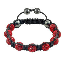 Handgefertigte Shamballa Armband Kristallkugeln BR45