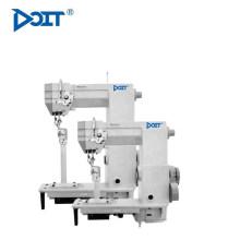 DT 998CRS Machine à coudre en cuir à une aiguille, semi-haute, droite, à droite (alimentation à rouleaux avec petit crochet)