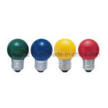 Лампа накаливания G45 с цветным покрытием