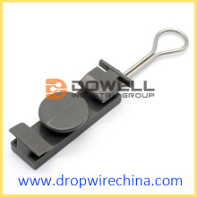 Plastic optic drop wire clamp