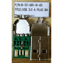 USB3.0 Plug, 5 Positions 8A Solder Type