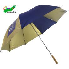 30 inch nylon gold coating high quality uv golf umbrella with long handle