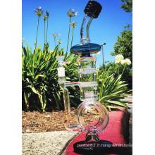 2016 Nouveau design Honeycomb Birdcage Perc Recycler Smoking Glass Water Pipe