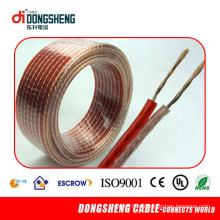 22 Anos Fabricação Fornecimento Transparente Speaker Wire para Dispositivo de áudio / Speaker