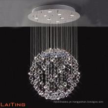 Modren soluções de design de luxo internacional inc cristal pingente lustre de iluminação 92041