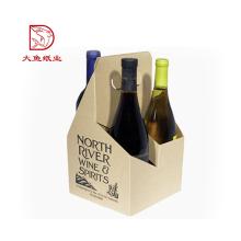 Oem mais novo decorativo caixa de presente de vinho de papel ondulado