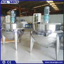 KUNBO 500 Liter Industrial Steam Jacketed Mixing Cooking Kettle with Agitator